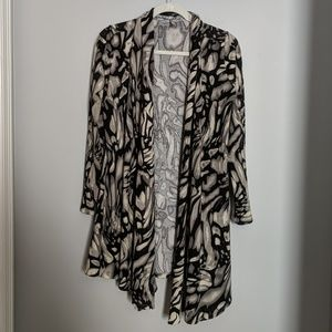 Point Long Sleeved Top Black/Gray/Cream